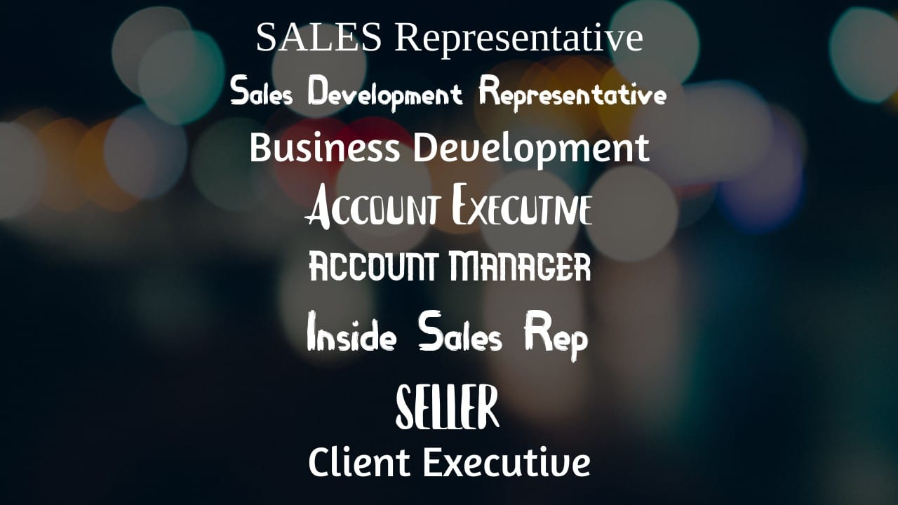 Sales Job Titles