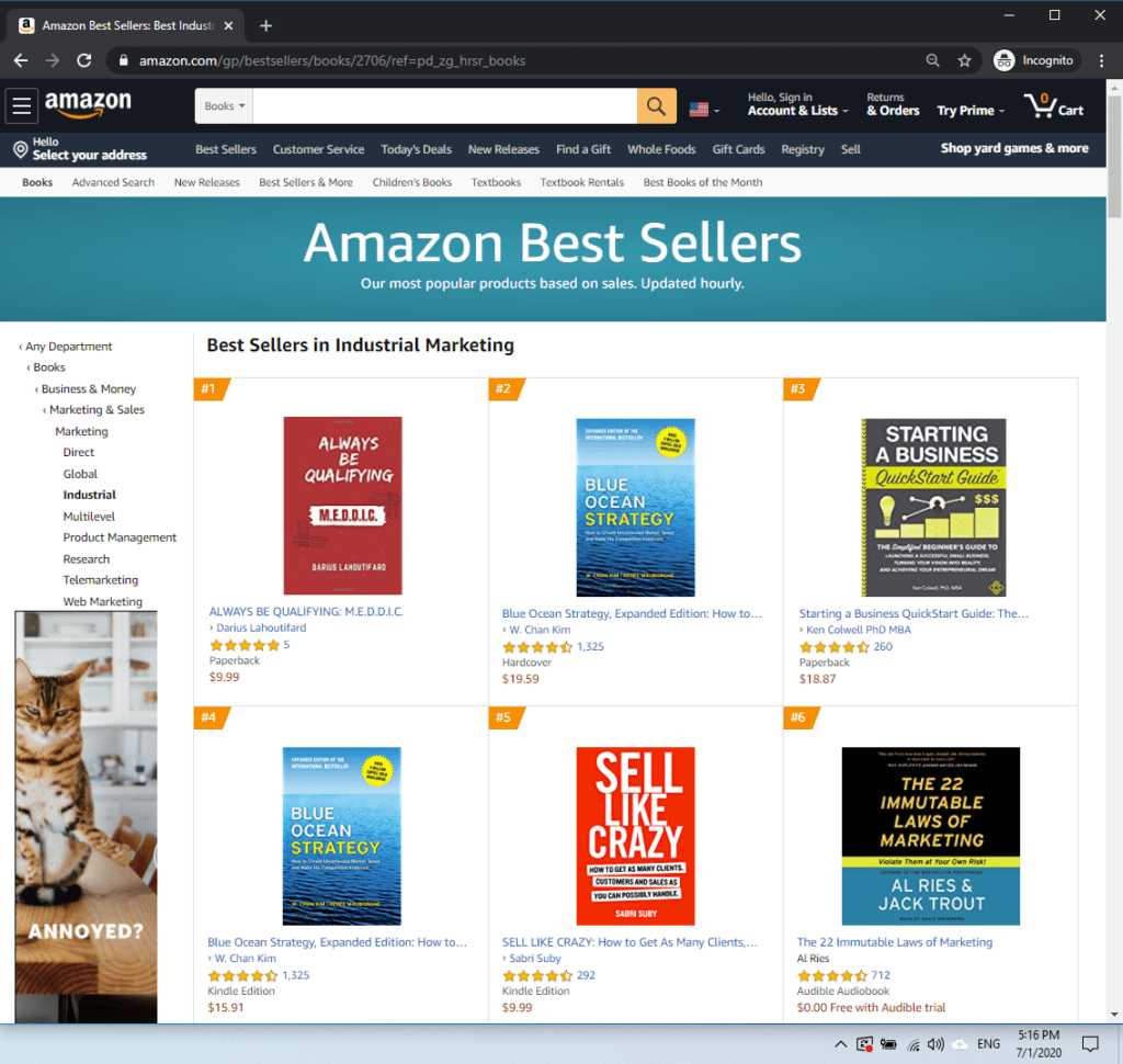 The MEDDIC Book was AMAZON Best-Selling