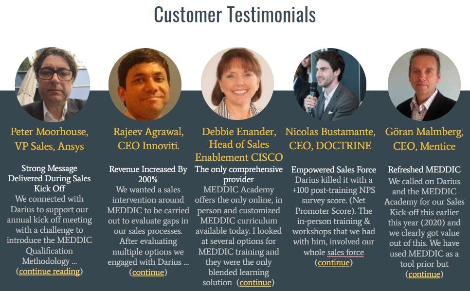 Meddic Academy customer testimonials